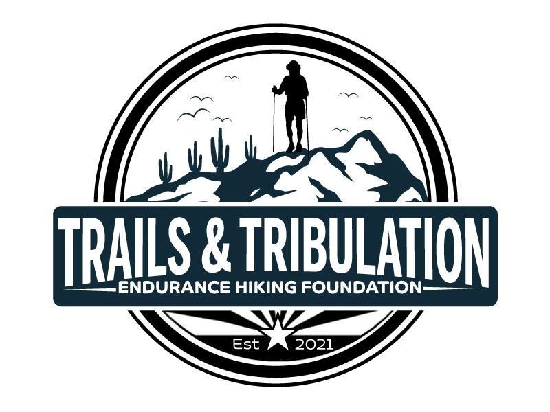 Trails & Tribulation Hiking Foundation logo design by ElonStark