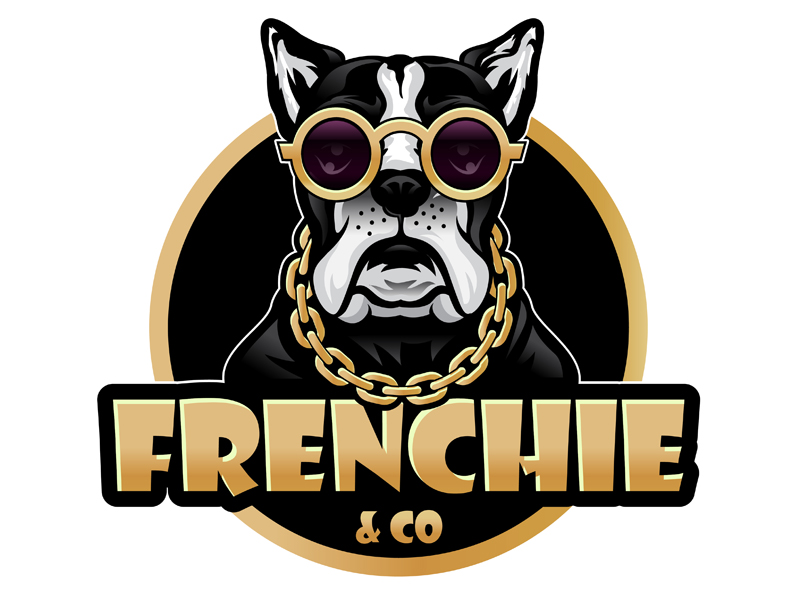 Frenchie & Co logo design by DreamLogoDesign