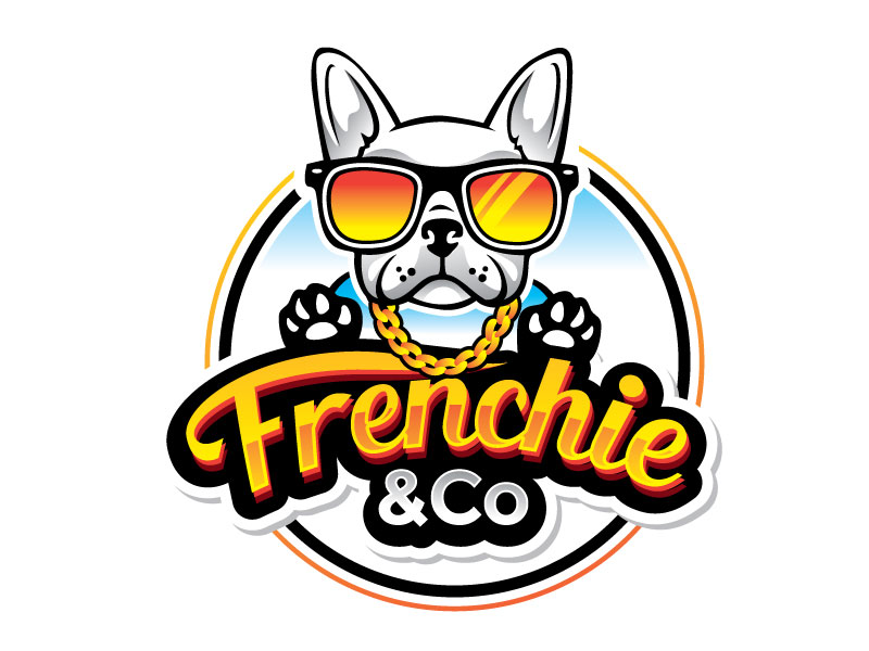 Frenchie & Co logo design by REDCROW