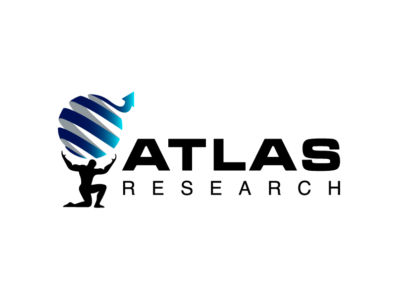 Atlas Research logo design by Marianne