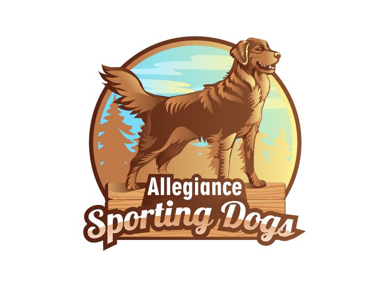 Allegiance Sporting Dogs logo design by Helga