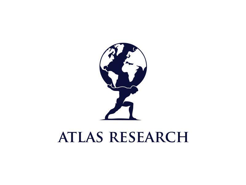 Atlas Research logo design by oke2angconcept