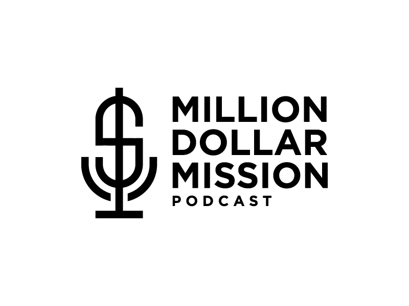 Million Dollar Mission Podcast logo design by jonggol