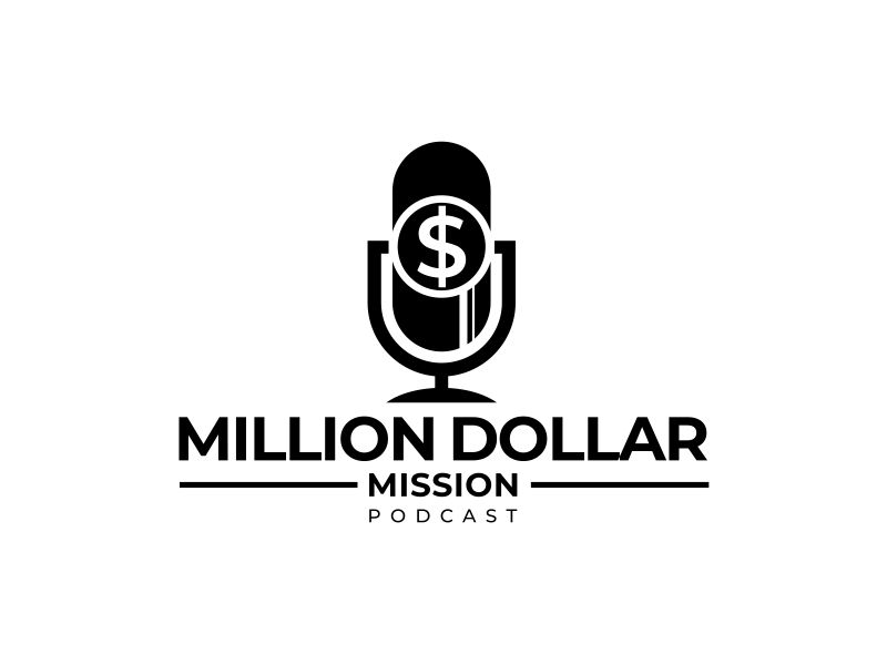 Million Dollar Mission Podcast logo design by mutafailan