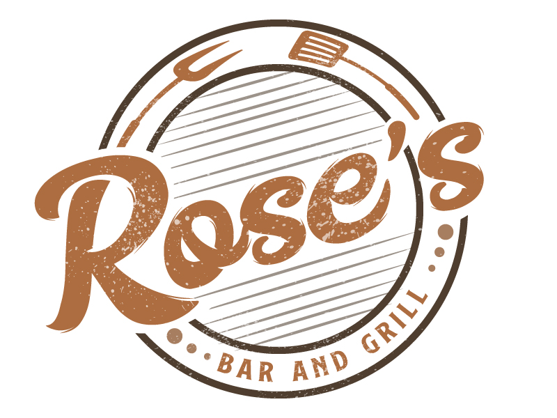 Rose's Bar & Grill logo design by Suvendu