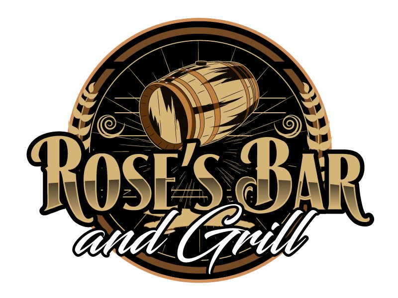 Rose's Bar & Grill logo design by ElonStark