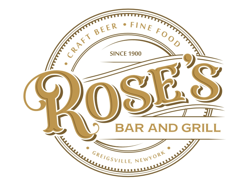 Rose's Bar & Grill logo design by coco