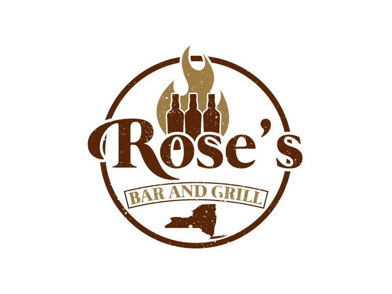 Rose's Bar & Grill logo design by uttam