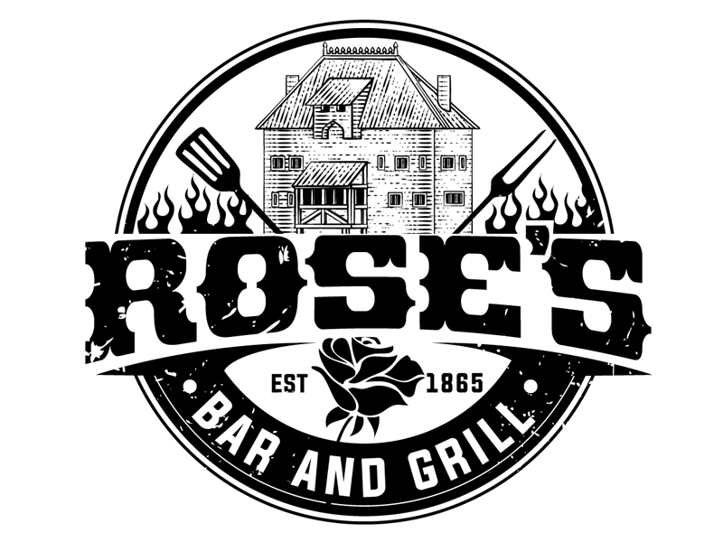Rose's Bar & Grill logo design by DreamLogoDesign