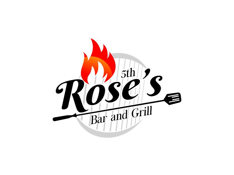 Rose's Bar & Grill logo design by sulaiman