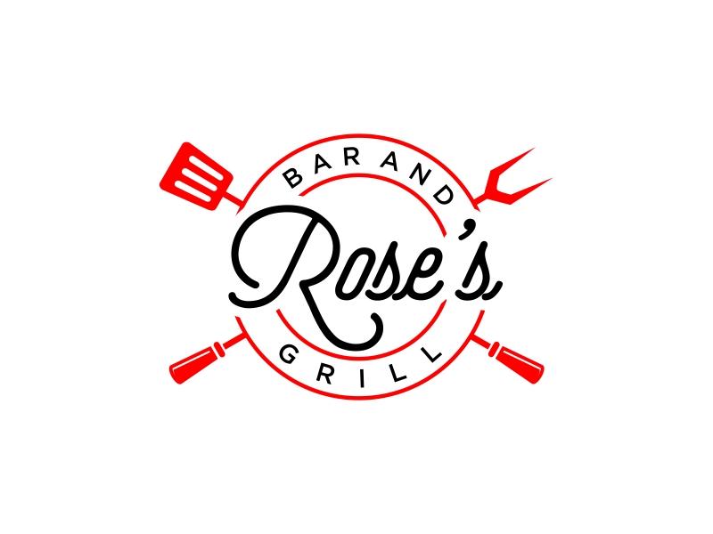 Rose's Bar & Grill logo design by GassPoll