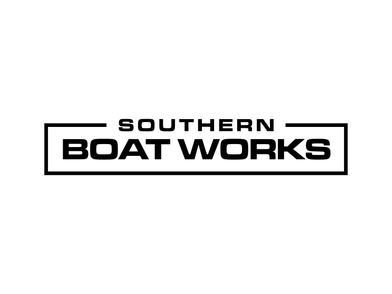 Southern boat works logo design by GassPoll