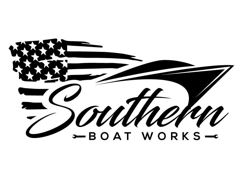Southern boat works logo design by Suvendu