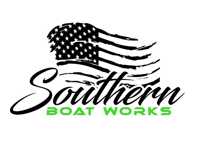 Southern boat works logo design by ElonStark