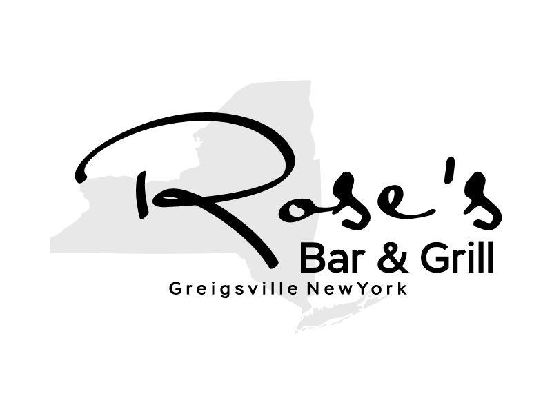 Rose's Bar & Grill logo design by Gwerth