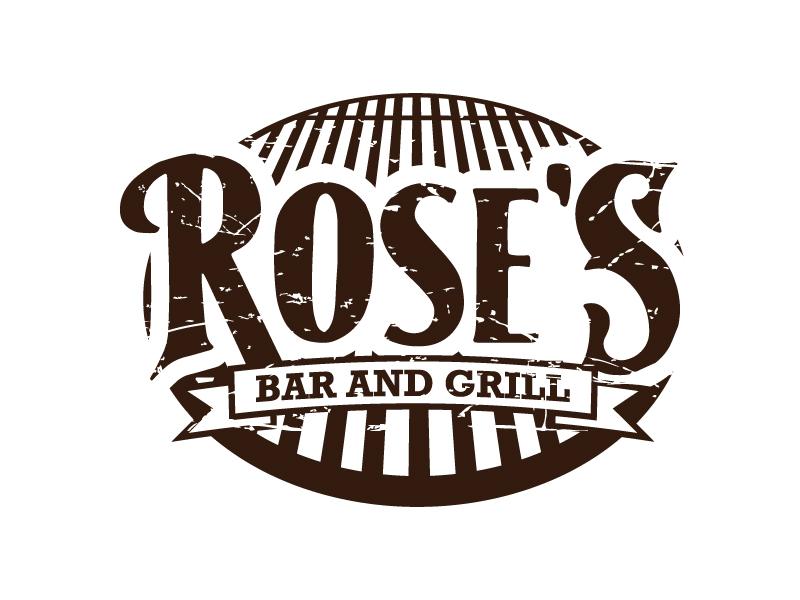 Rose's Bar & Grill logo design by daywalker
