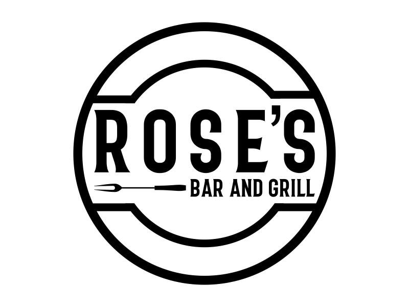 Rose's Bar & Grill logo design by Kruger