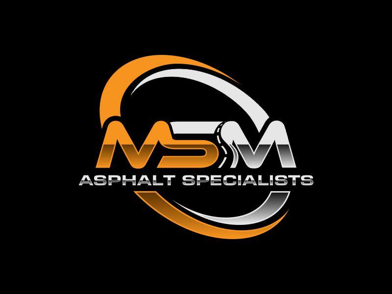 MSM ASPHALT SPECIALISTS logo design by SelaArt