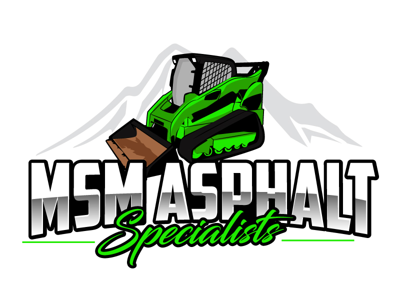 MSM ASPHALT SPECIALISTS logo design by ElonStark