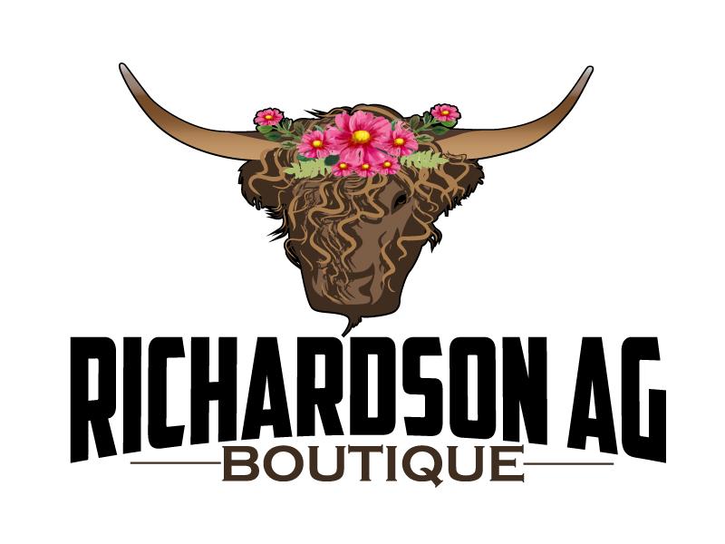 Richardson Ag Boutique logo design by ElonStark