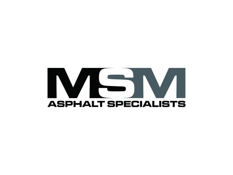MSM ASPHALT SPECIALISTS logo design by blessings