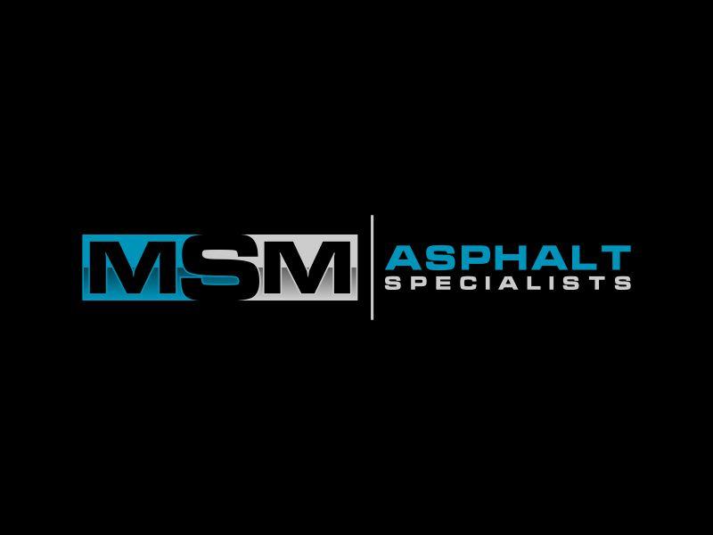MSM ASPHALT SPECIALISTS logo design by mukleyRx