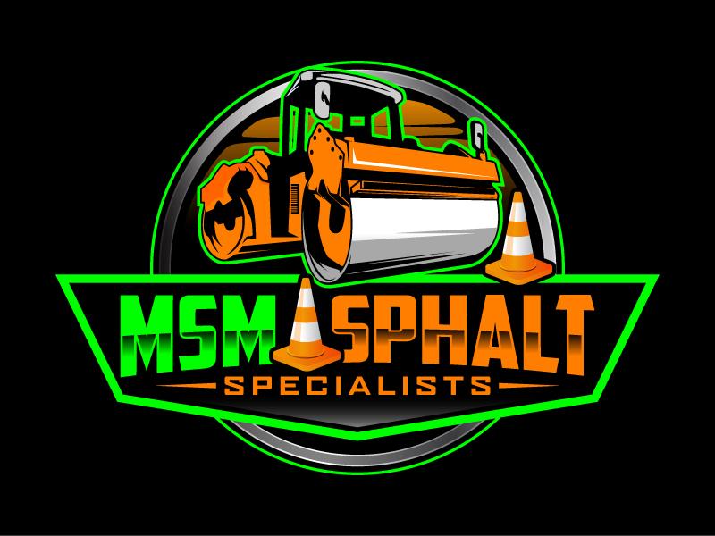 MSM ASPHALT SPECIALISTS logo design by daywalker