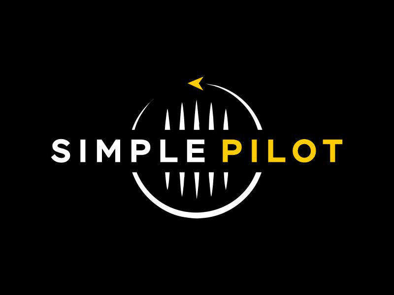 The Simple Pilot logo design by Gwerth