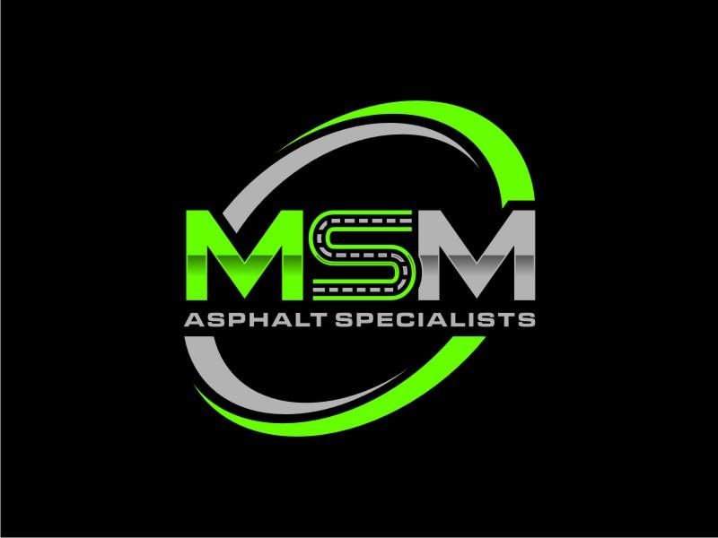 MSM ASPHALT SPECIALISTS logo design by alby