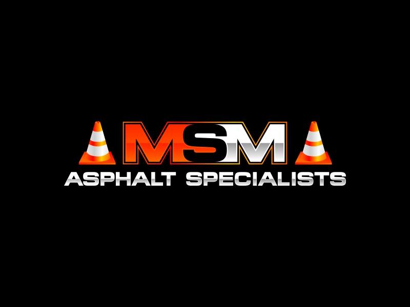 MSM ASPHALT SPECIALISTS logo design by rizuki