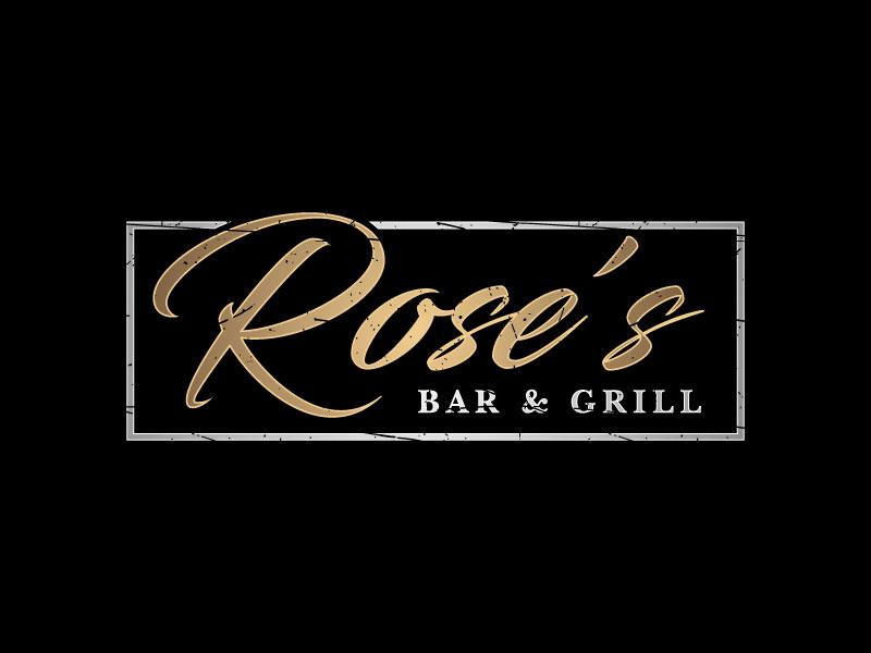 Rose's Bar & Grill logo design by nard_07