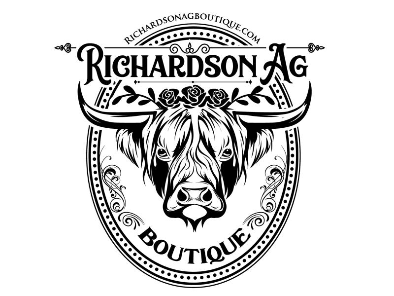 Richardson Ag Boutique logo design by DreamLogoDesign