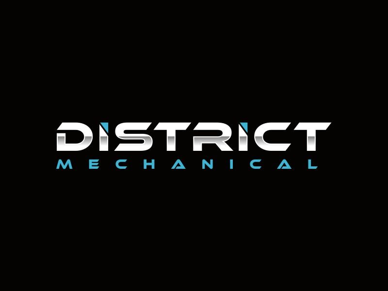 District Mechanical logo design by giphone