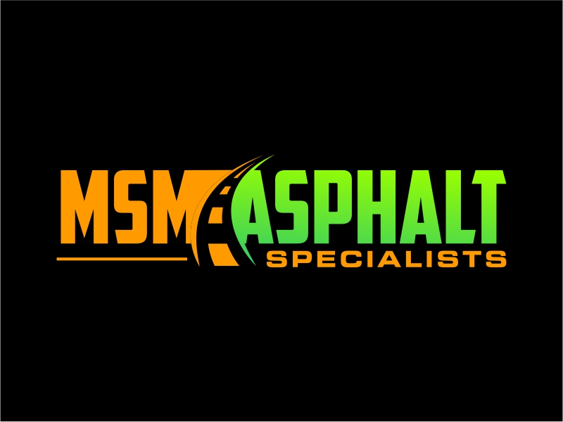 MSM ASPHALT SPECIALISTS logo design by cintoko
