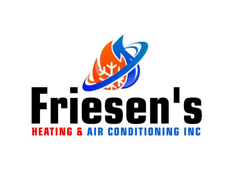 Friesen's Heating & Air Conditioning Inc logo design by ElonStark