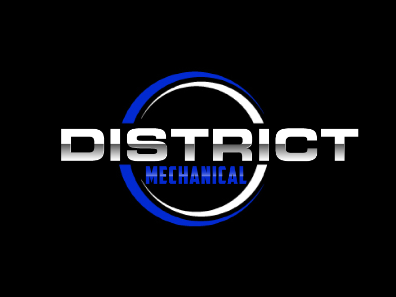 District Mechanical logo design by ElonStark