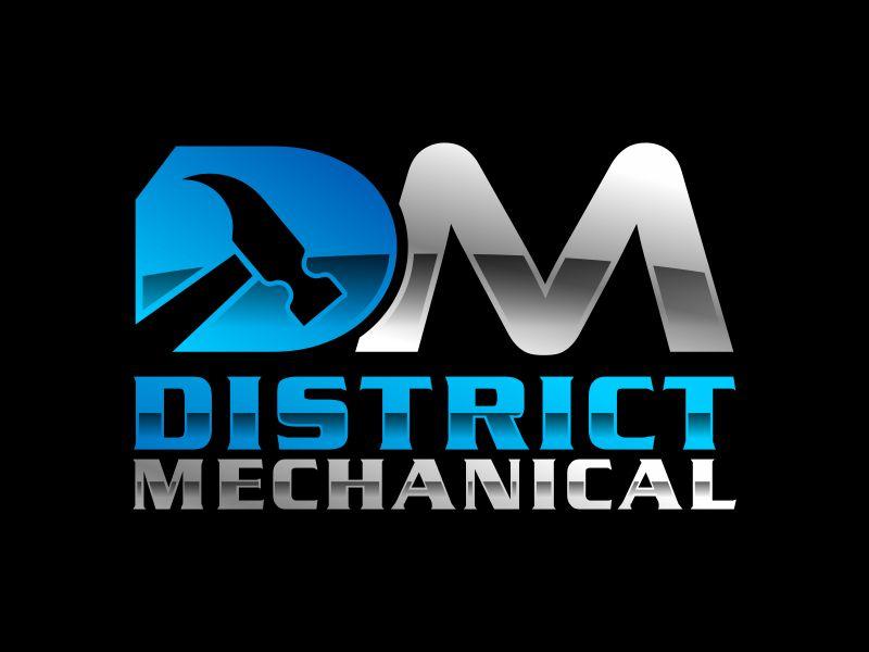 District Mechanical logo design by Gwerth
