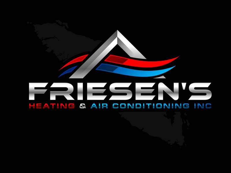 Friesen's Heating & Air Conditioning Inc logo design by DreamLogoDesign