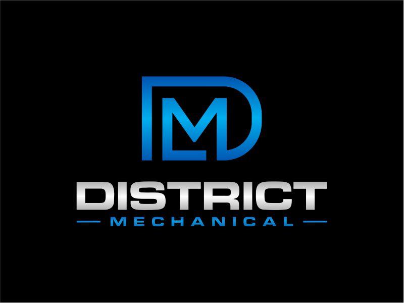 District Mechanical logo design by fadlan