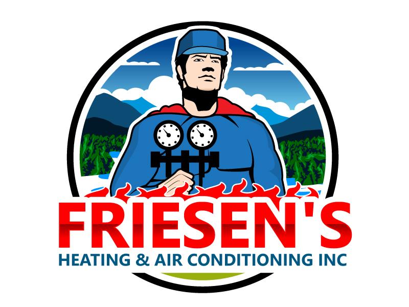 Friesen's Heating & Air Conditioning Inc logo design by Suvendu