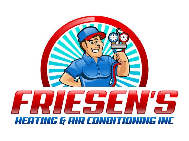 Friesen's Heating & Air Conditioning Inc logo design by LogoQueen