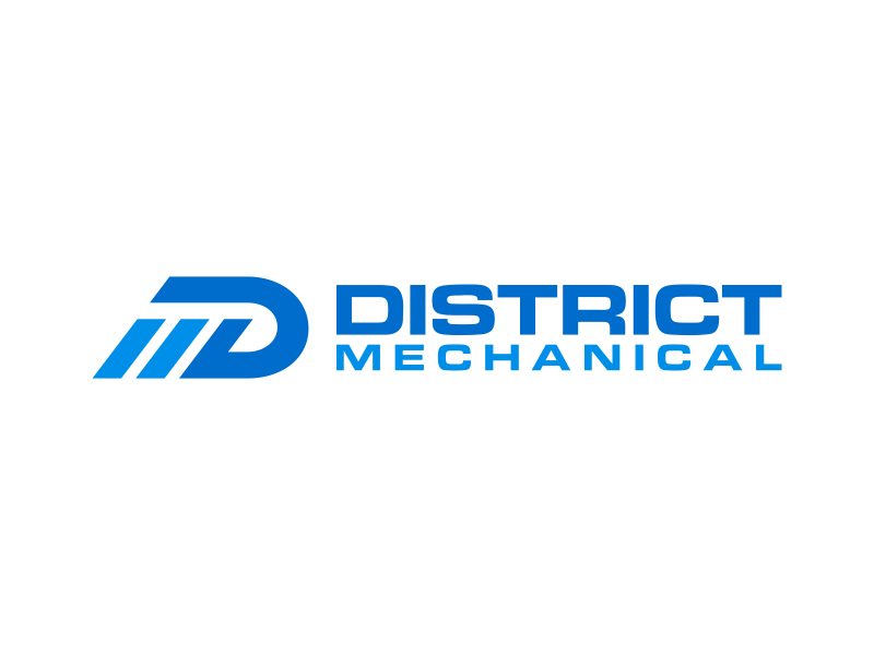 District Mechanical logo design by pionsign