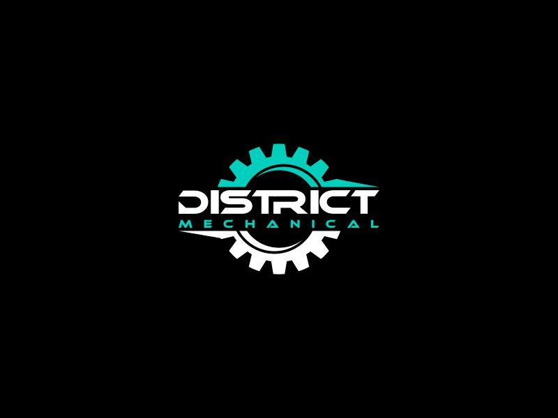 District Mechanical logo design by Orino