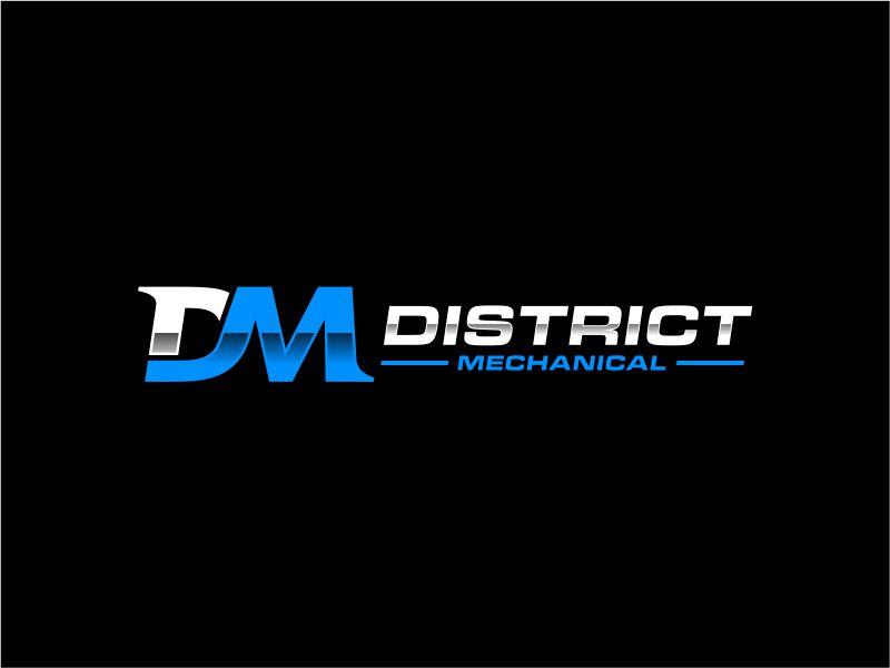 District Mechanical logo design by mutafailan