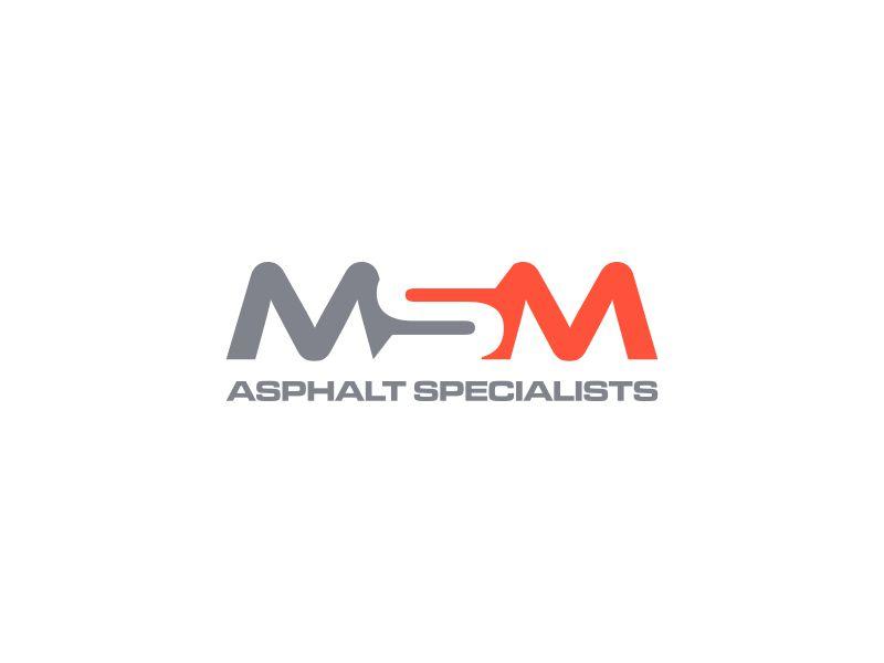 MSM ASPHALT SPECIALISTS logo design by asani