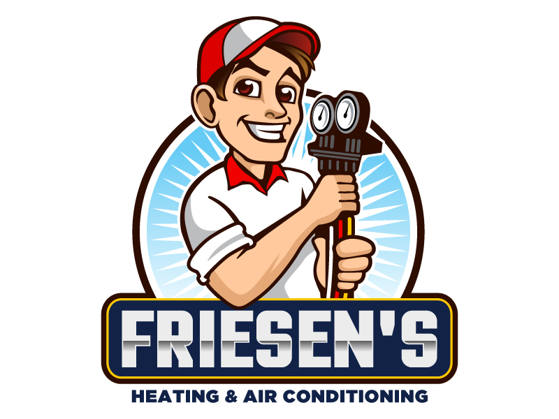 Friesen's Heating & Air Conditioning Inc logo design by LucidSketch