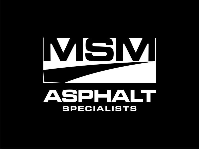 MSM ASPHALT SPECIALISTS logo design by Adundas