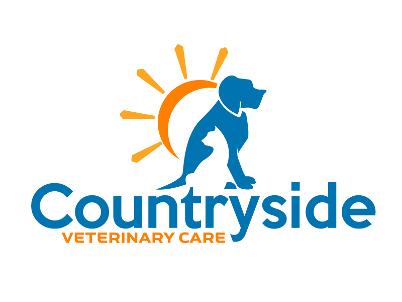 Countryside Veterinary Care logo design by ElonStark