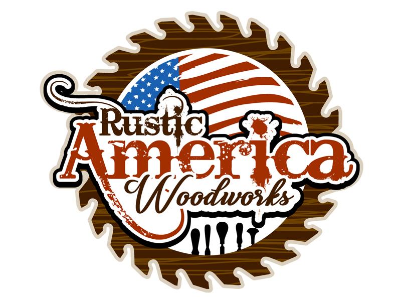 Rustic America Woodworks logo design by DreamLogoDesign