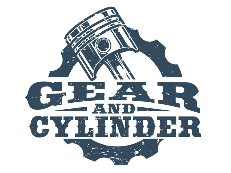 Gear And Cylinder logo design by DreamLogoDesign